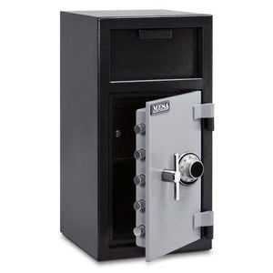 MESA Safes Depository Safe 1.3 cu.ft. Combination Lock Black-Grey