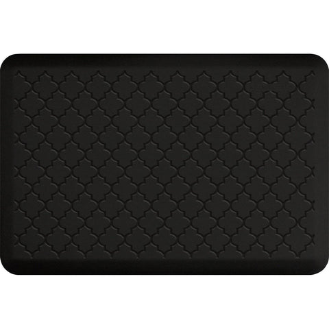 Image of WellnessMats Trellis Motif 3' X 2' MT32WMRBLK, Black