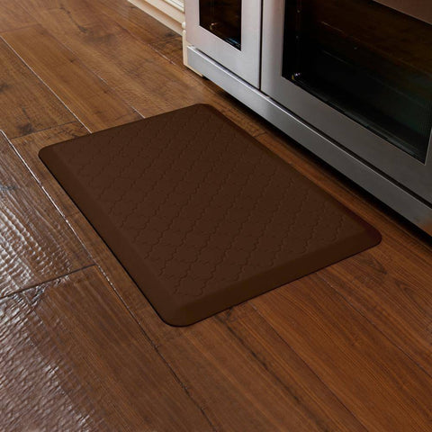 Image of WellnessMats Trellis Motif 3' X 2' MT32WMRBRN, Brown