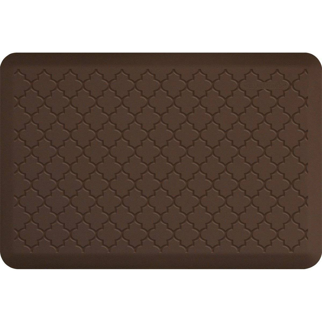 WellnessMats Trellis Motif 3' X 2' MT32WMRBRN, Brown