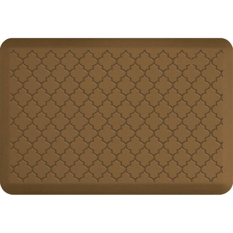 Image of WellnessMats Trellis Motif 3' X 2' MT32WMRTAN, Tan
