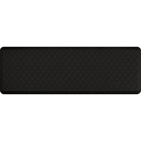 Image of WellnessMats Trellis Motif 6' X 2' MT62WMRBLK, Black