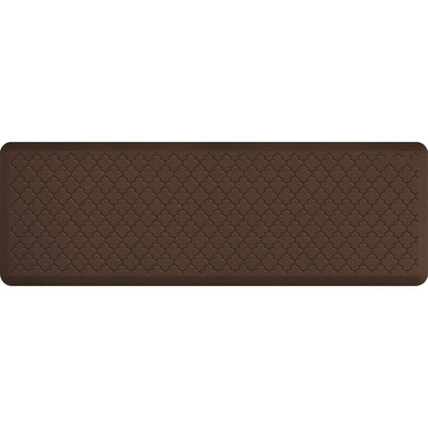 Image of WellnessMats Trellis Motif 6' X 2' MT62WMRBRN, Brown