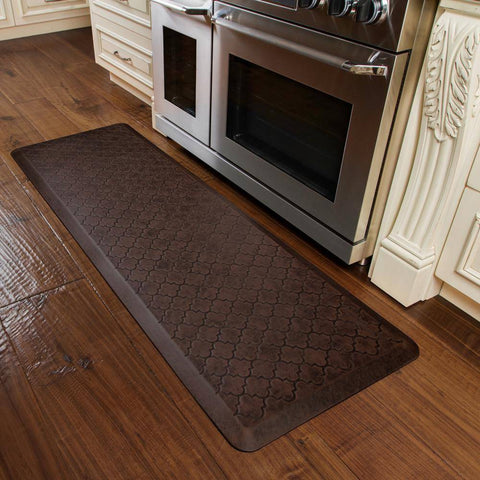 WellnessMats Trellis Antique 6'X2' MT62WMRDB, Antique Dark