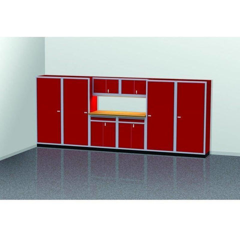 Image of Moduline Garage PRO II Cabinet Combo 9 Piece 16 Foot Wide #PGC016-05X - Garage Tools Storage