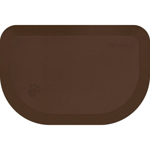 "Image of WellnessMats PetMat SM Rounded 27"" X 18"" X 1"" PM2718RBRN,BrownBark"