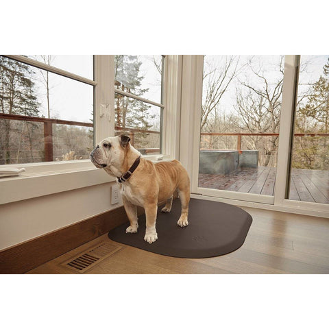 "Image of WellnessMats PetMat MD Rounded 36"" X 24"" X 1"" PM3624RBRN,BrownBark"