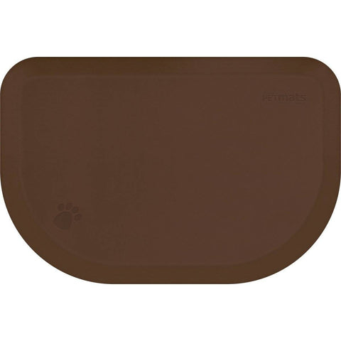 "WellnessMats PetMat MD Rounded 36"" X 24"" X 1"" PM3624RBRN,BrownBark"