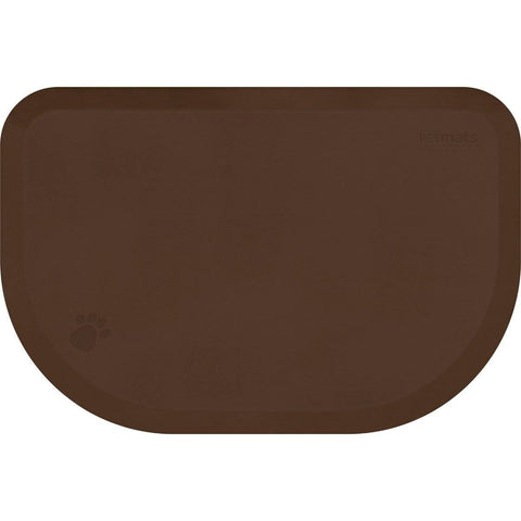 "Image of WellnessMats PetMat LG Rounded 45"" X 30"" X 1"" PM4530RBRN,BrownBark"