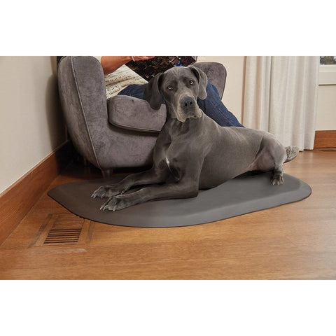 "WellnessMats PetMat LG Rounded 45"" X 30"" X 1"" PM4530RGRY,GrayCloud"