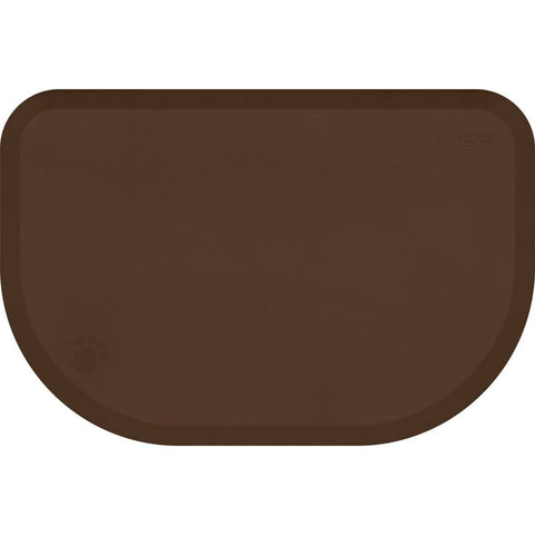 "WellnessMats PetMat XL Rounded 54"" X 36"" X 1"" PM5436RBRN,BrownBark"