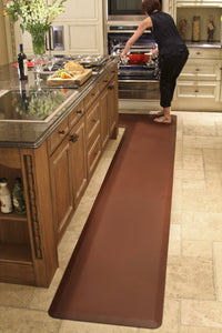 WellnessMats Puzzle L Series 6'X6'X3' Kitchen floor mats that resist punctures, heat, dirt and stains. A floor mat that provides cushion and nonslip surface.