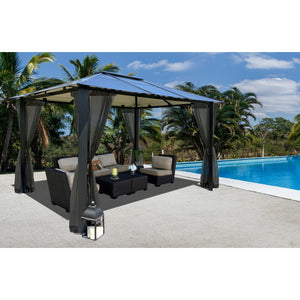 Paragon Durham 10 x 13 Hard Top Gazebo with Mosquito Netting GZ3584K