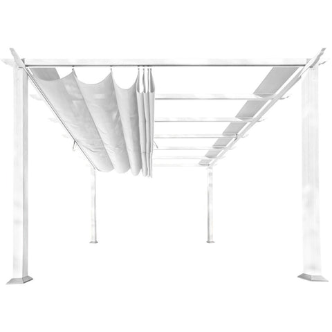 Image of Paragon Florence White Aluminum Pergola White Convertible Top PR11WTW