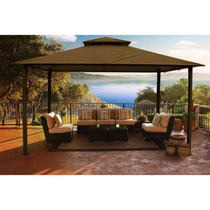 Paragon Outdoor Kingsbury Gazebo with Cocoa Top GZ584NC