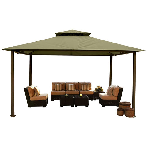 Image of Paragon Kingsbury Gazebo w/ Sand Top & Mosquito Netting GZT584K