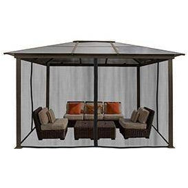 Paragon Madrid 10'x13' Hard Top Gazebo w/ Mosquito Netting GZ620LSK