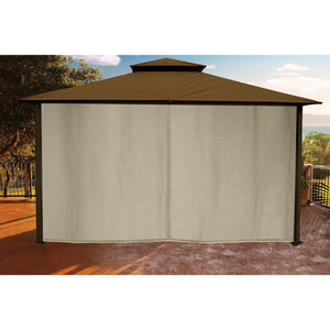 Paragon Sedona Gazebo Cocoa Color Roof Privacy Curtains Mosquito Netting