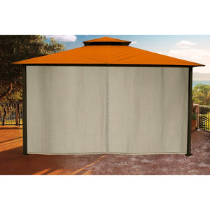 Paragon Sedona Gazebo Rust Color Top w/ Mosquito Netting GZ584NRK2