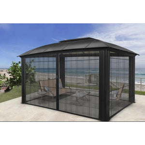 Paragon Siena 12'x16' Hard Top Gazebo with Sliding Screen GZ3DXLS