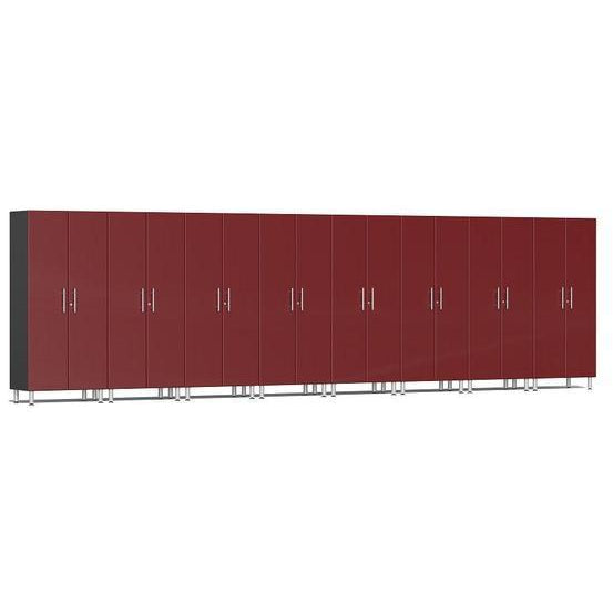 Ulti-MATE Garage 2.0 Ultimate 8-Pc Tall Cabinet Kit Red Metallic
