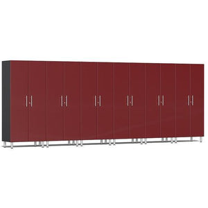 Ulti-MATE Garage 2.0 Ultimate 6-Pc Tall Cabinet Kit Red Metallic