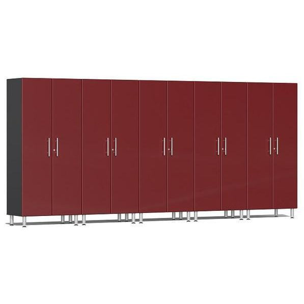 Ulti-MATE Garage 2.0 Ultimate 5-Pc Tall Cabinet Kit Red Metallic