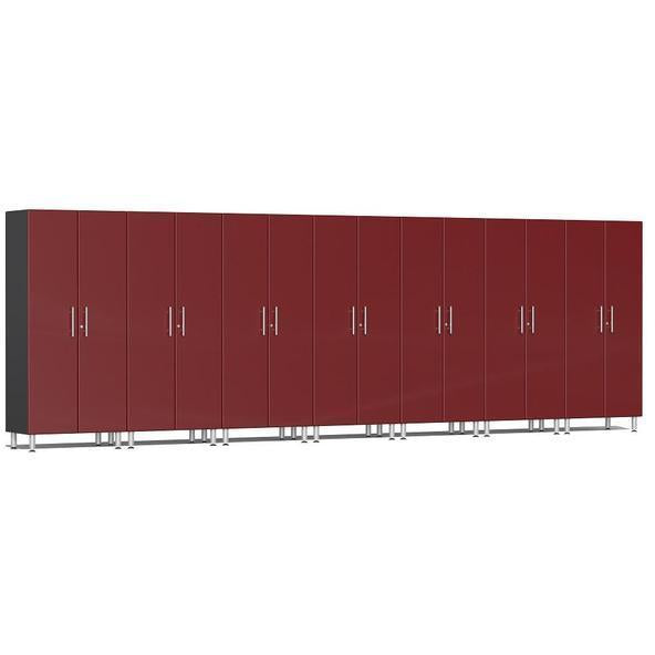 Ulti-MATE Garage 2.0 Ultimate 7-Pc Tall Cabinet Kit Red Metallic