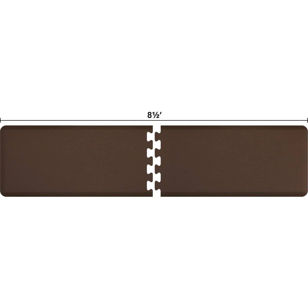 WellnessMats Puzzle R Series 8.5' X 2' RS2WMP85BRN,Brown