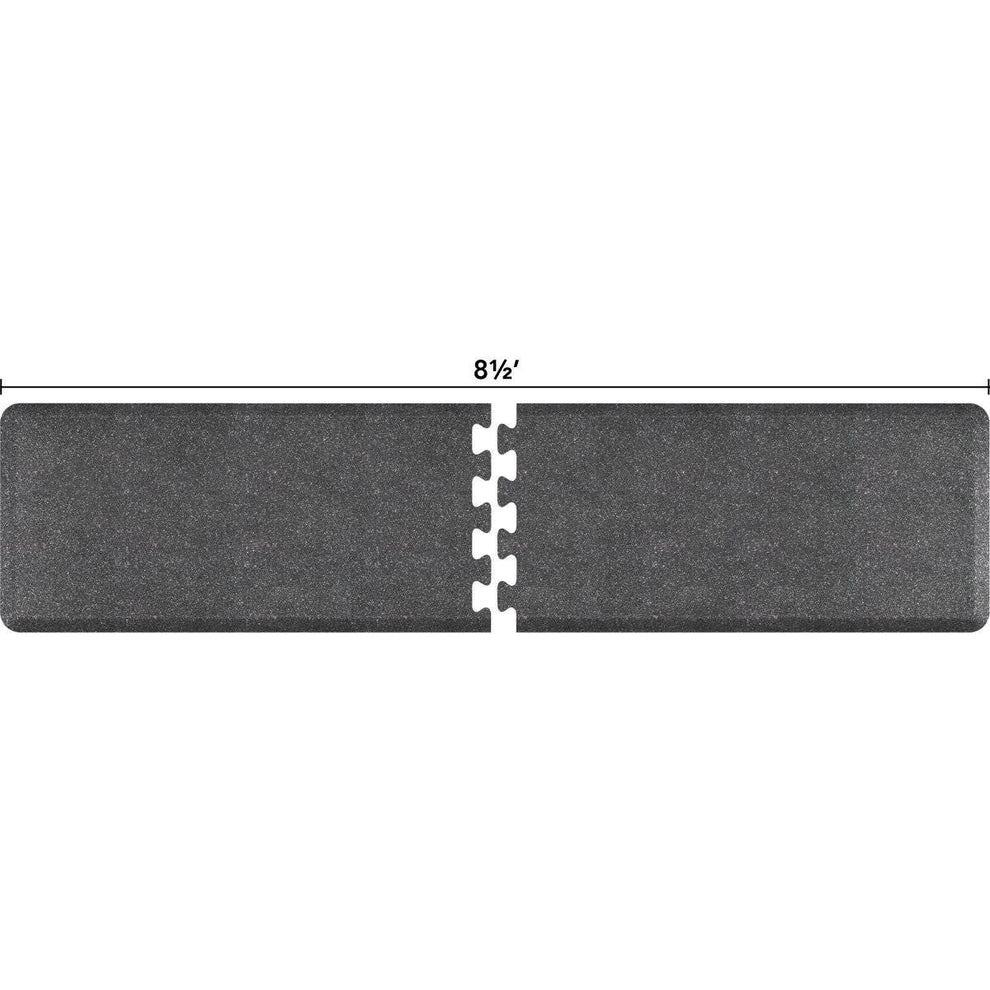 WellnessMats Puzzle R Series 8.5' X 2' RS2WMP85GS,GraniteSteel