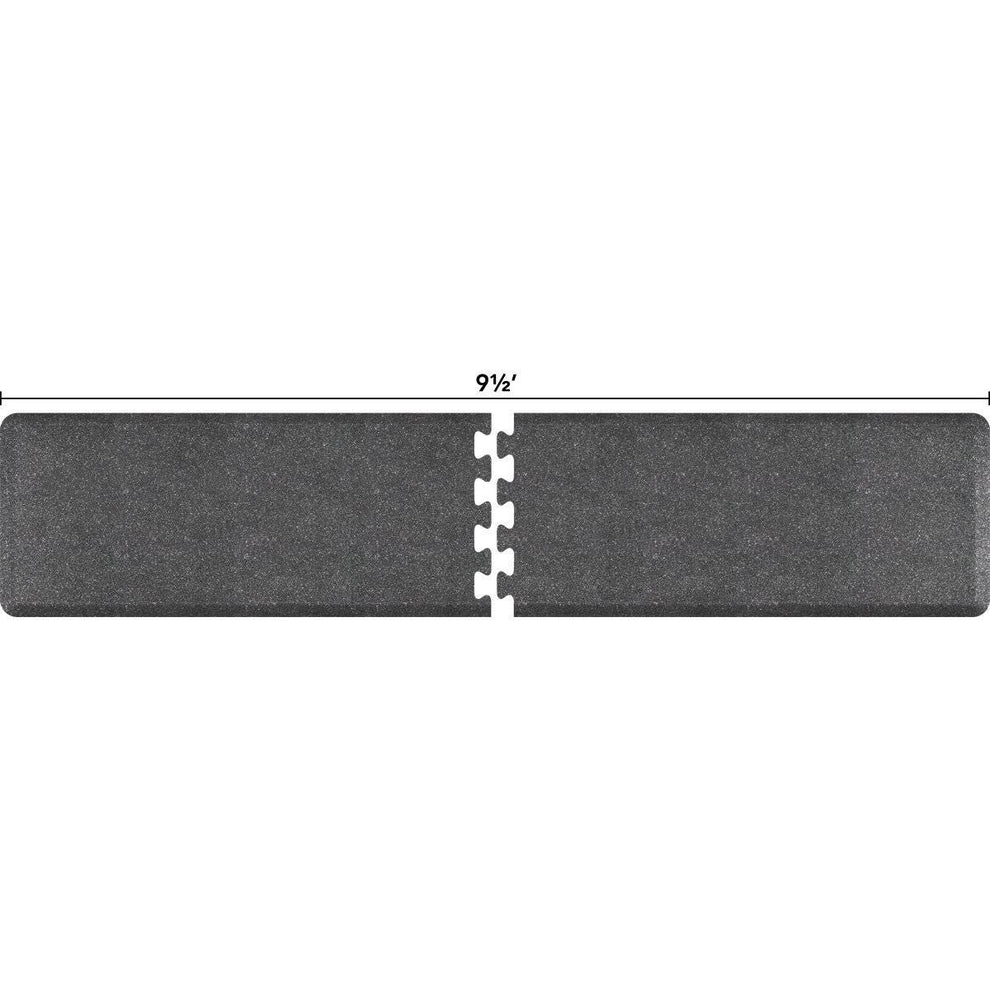 WellnessMats Puzzle R Series 9.5' X 2' RS2WMP95GS,GraniteSteel