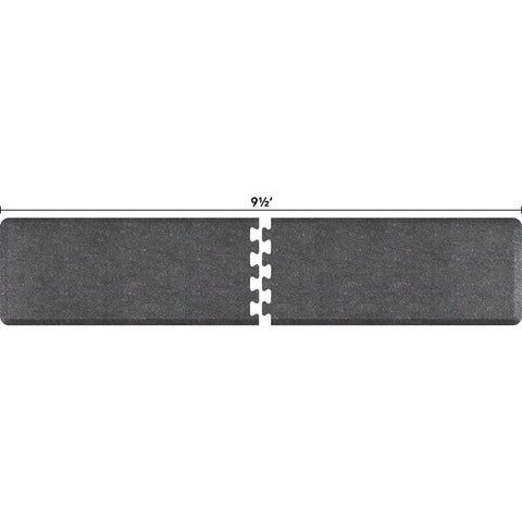 Image of WellnessMats Puzzle R Series 9.5' X 2' RS2WMP95GS,GraniteSteel