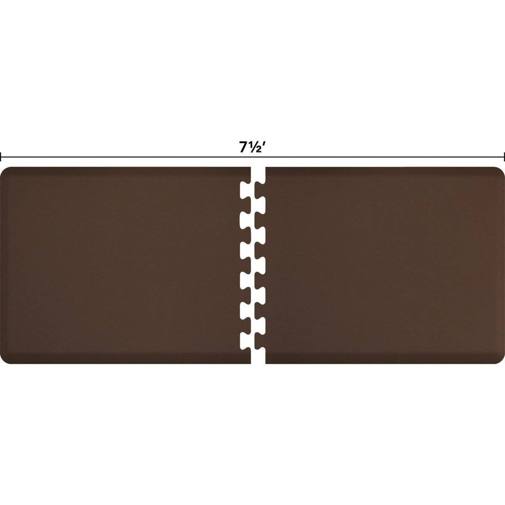 WellnessMats Puzzle R Series 7.5' X 3' RS3WMP75BRN,Brown