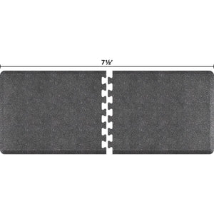 WellnessMats Puzzle R Series 7.5' X 3' RS3WMP75GS,GraniteSteel