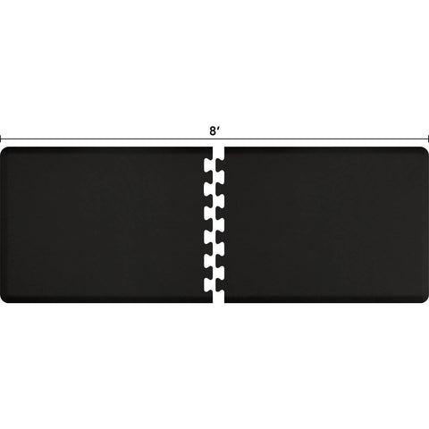 Image of WellnessMats Puzzle R Series 8' X 3' RS3WMP80BLK,Black