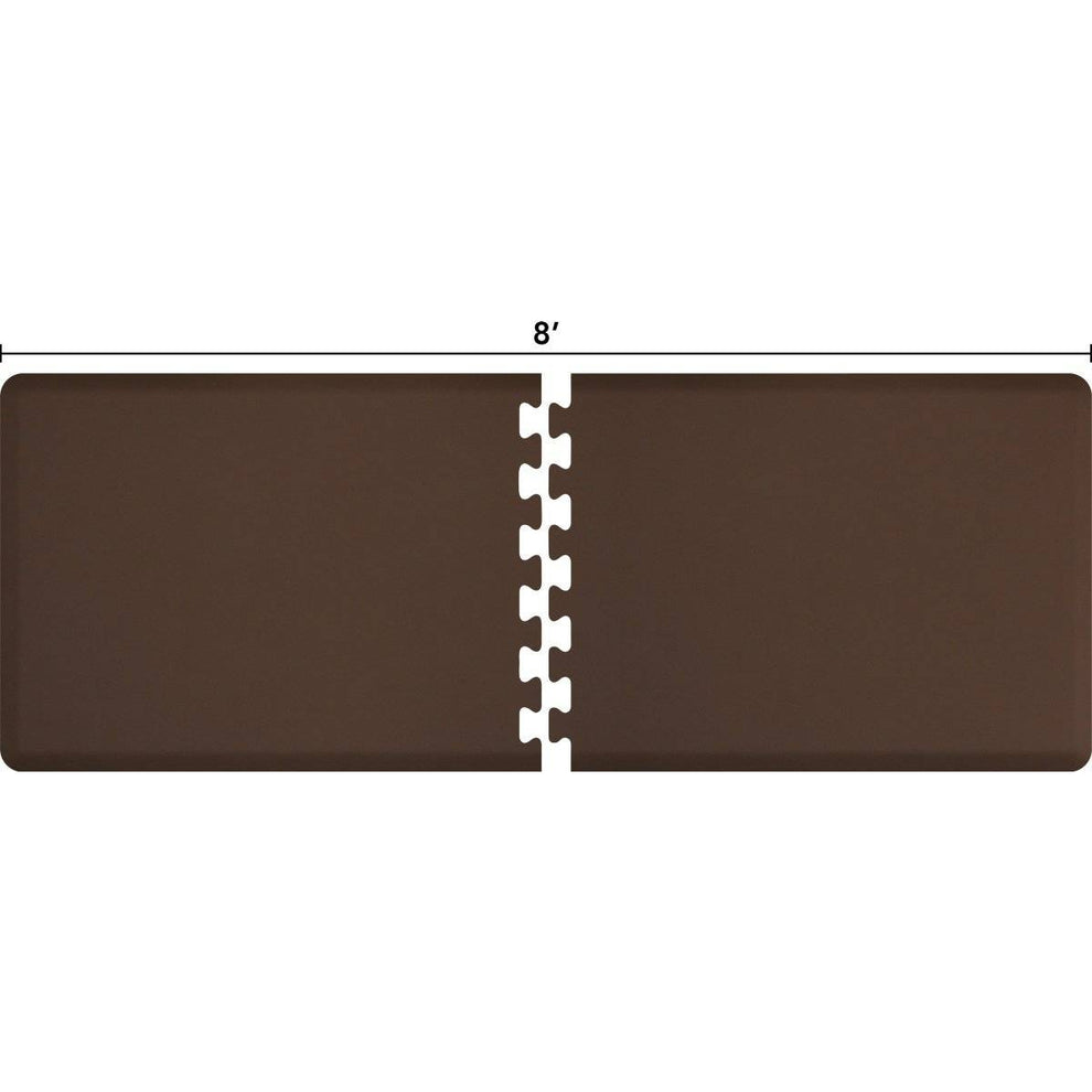 WellnessMats Puzzle R Series 8' X 3' RS3WMP80BRN,Brown