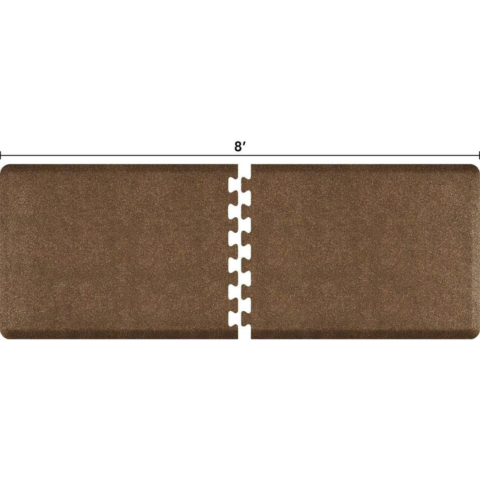 WellnessMats Puzzle R Series 8' X 3' RS3WMP80GC,GraniteCopper