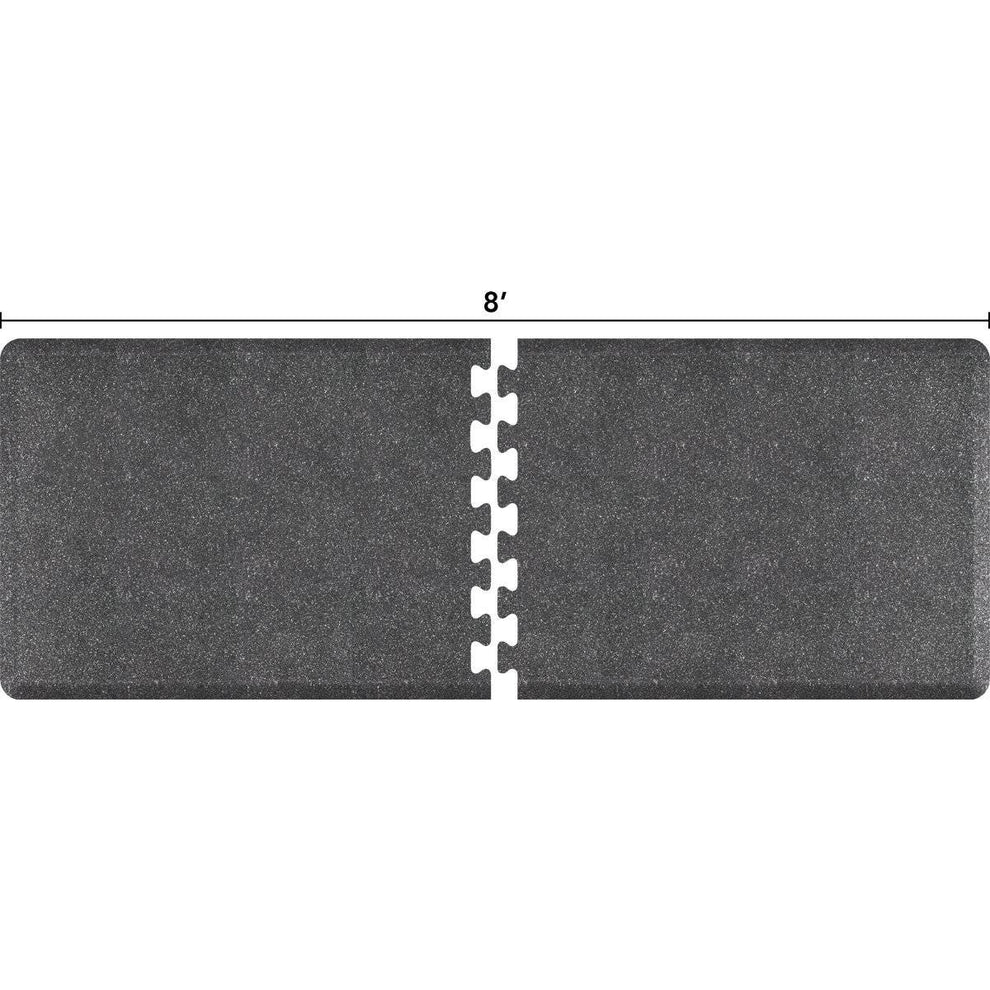 WellnessMats Puzzle R Series 8' X 3' RS3WMP80GS,GraniteSteel