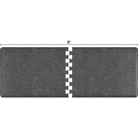 Image of WellnessMats Puzzle R Series 8' X 3' RS3WMP80GS,GraniteSteel
