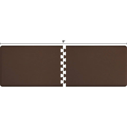 Image of WellnessMats Puzzle R Series 9' X 3' RS3WMP90BRN,Brown