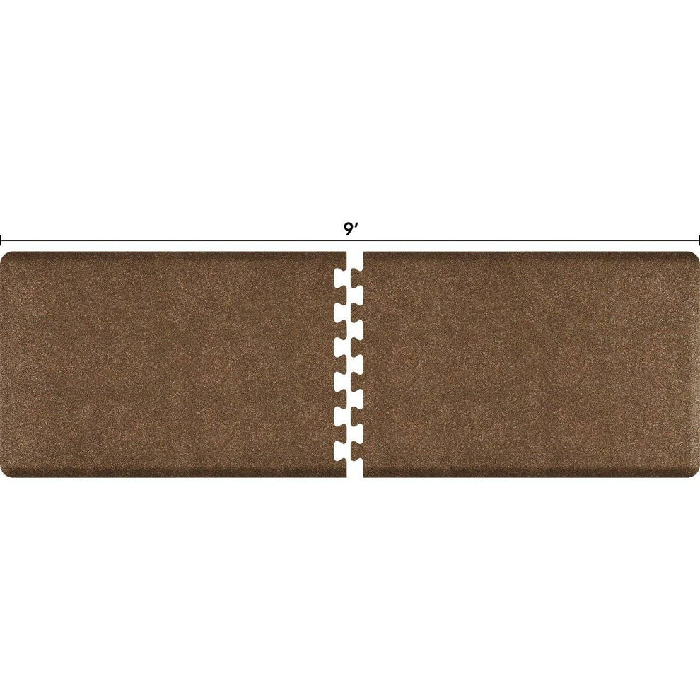 WellnessMats Puzzle R Series 9' X 3' RS3WMP90GC,GraniteCopper