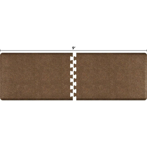 Image of WellnessMats Puzzle R Series 9' X 3' RS3WMP90GC,GraniteCopper