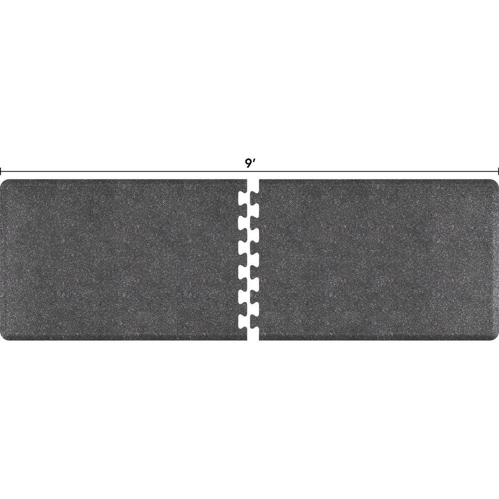 WellnessMats Puzzle R Series 9' X 3' RS3WMP90GS,GraniteSteel