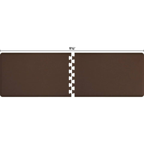 Image of WellnessMats Puzzle R Series 9.5'X3' RS3WMP95BRN,Brown
