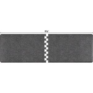 WellnessMats Puzzle R Series 9.5'X3' RS3WMP95GS,GraniteSteel