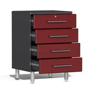 Ulti-MATE Garage 2.0 Series 10-Pc Kit w/ Worktop Red Metallic