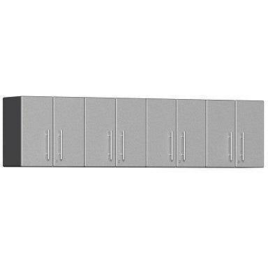 Ulti-MATE Garage 2.0 Ultimate 4-Pc Wall Cabinet Kit Silver Metallic