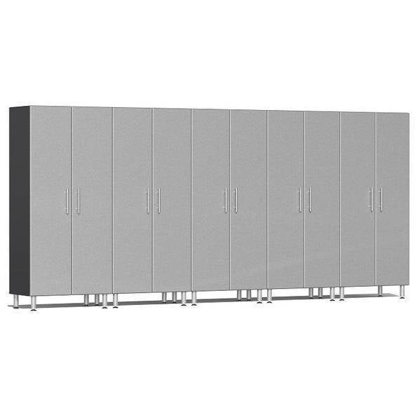 Ulti-MATE Garage 2.0 Ultimate 5-Pc Tall Cabinet Kit Silver Metallic