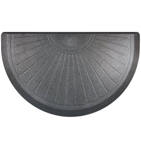 WellnessMats Studio Collection Semi Sunburst STS3622GS,GraniteSteel