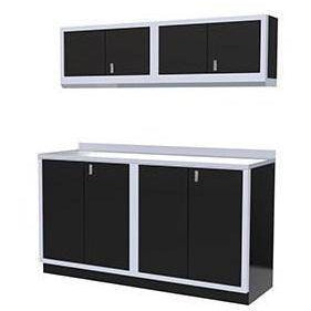 Image of Moduline Garage PRO II Cabinet Combo 4 Piece 6 Foot Wide #PGC006-01X - Garage Tools Storage